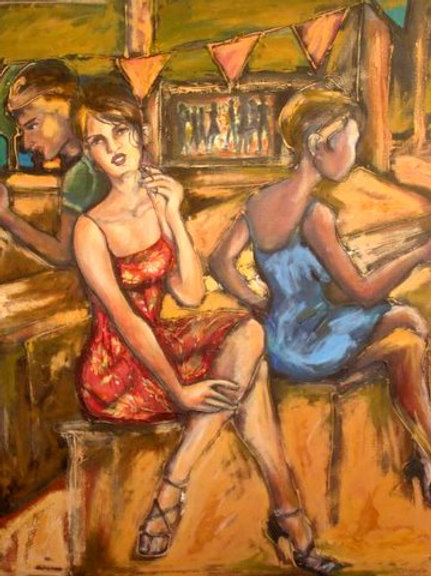 La séduction, 90 x 70 cm, acrylique sur toile