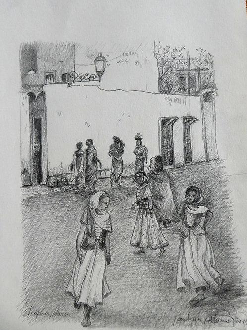 Filles à Harar, Ethiopie