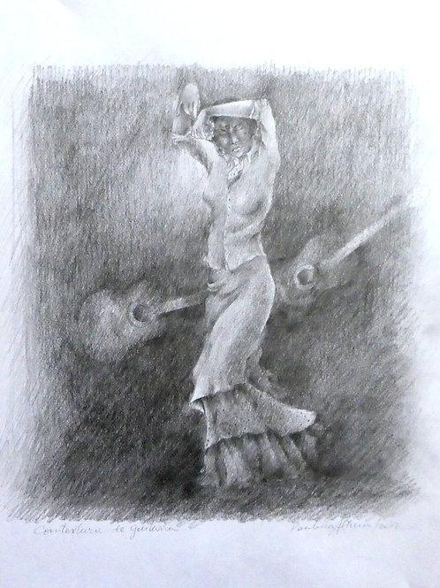 Sonido de guitarras  40 x 30 cm