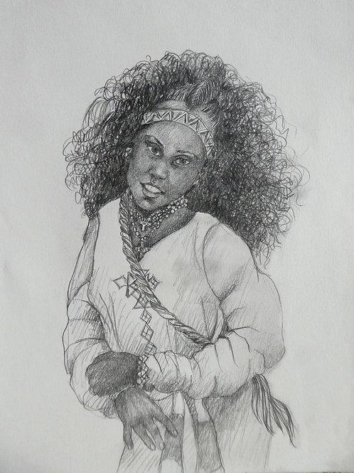 Fille d'Axoum, Ethiopie