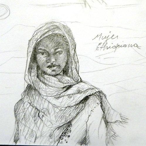 Mujer etiopiana  20 x 20 cm