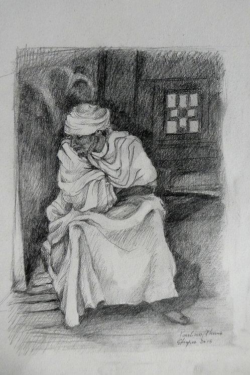 Prêtre à Lalibela, Ethiopie