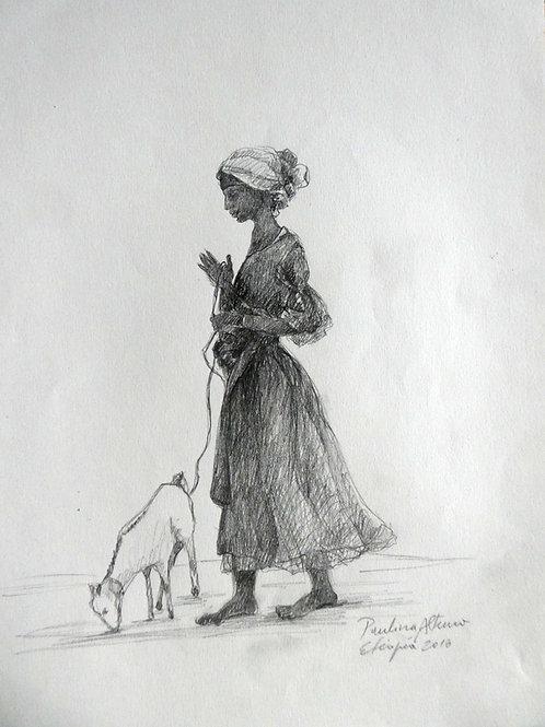 Femme à la campagne, Ethiopie