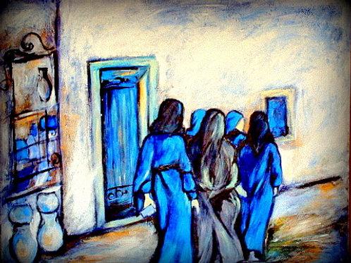 Femmes maroquines, 70 x 90 cm