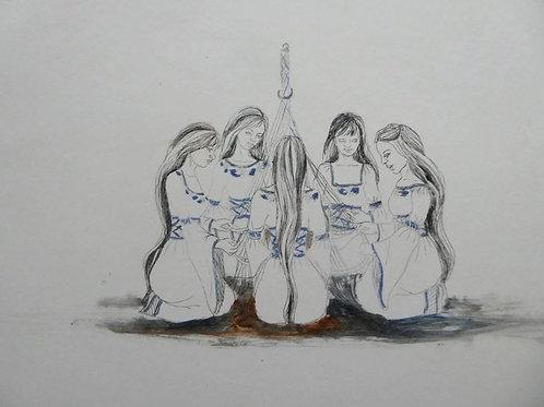 Mujeres Andinas 1/50 Aguatinta 30 x 40 cm