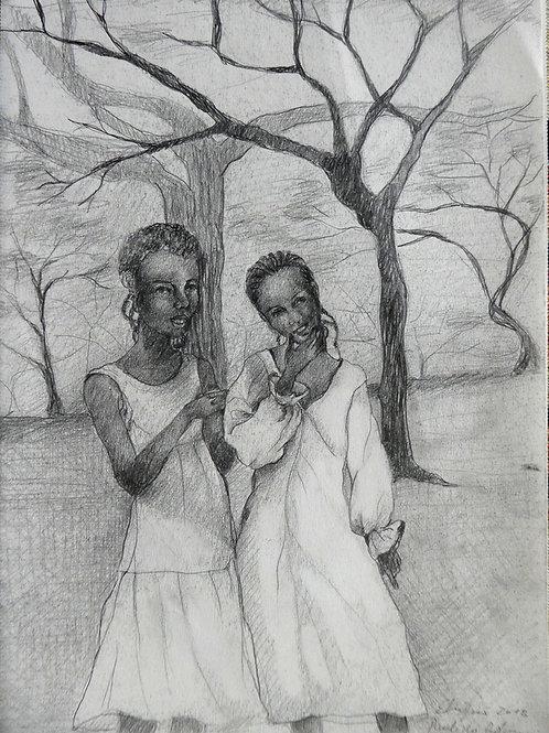 Filles à la vallée du Rift, Ethiopie