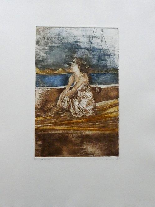 Verano en el lago Leman 2/50Punta Seca 30 x 20 cm