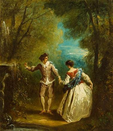 Watteau Jean-Antoine: Fete galante