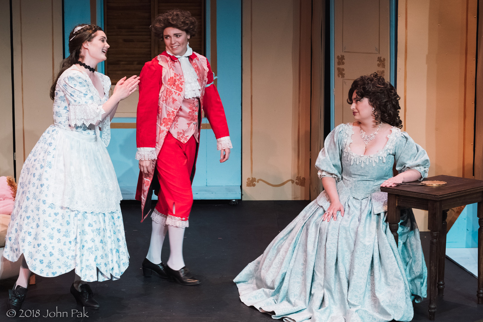 Katrina Deininger, Sandra Sharis and Megan Uhrinak as Susanna, Cherubino and the Countess