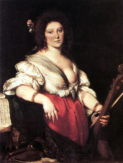 Barbara Strozzi (disputed) by Bernardo Strozzi
