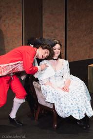 Sandra Sharis and Katrina Deininger as Cherubino and Susanna