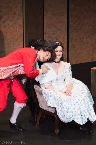 Sandra Sharis and Katrina Deininger as Cherubino and Susanna