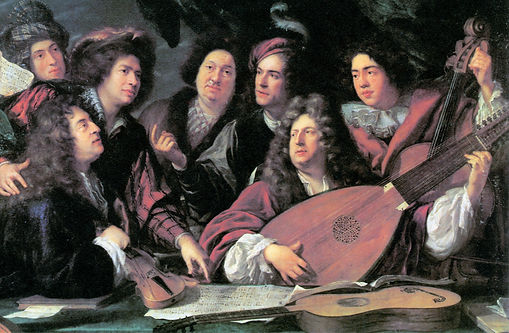 Portrait of Several Musicians and Artists by François Puget