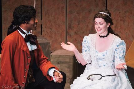 Dorian McCall and Katrina Deininger as Figaro and Susanna