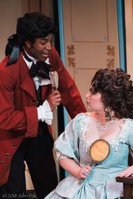 Dorian McCall and Megan Uhrinak as Figaro and the Countess