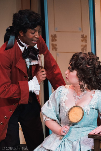 Dorian McCall and Megan Uhrinak as Figaro and the Countess