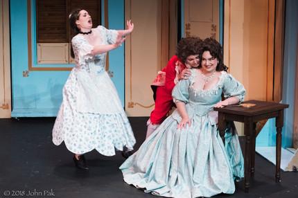 Katrina Deininger, Sandra Sharis and Megan Uhrinak as Susanna, Cherubino and the Countess