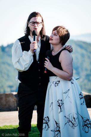 William Goforth and Megan Uhrinak singing The Stranger in Paradise from Kismet