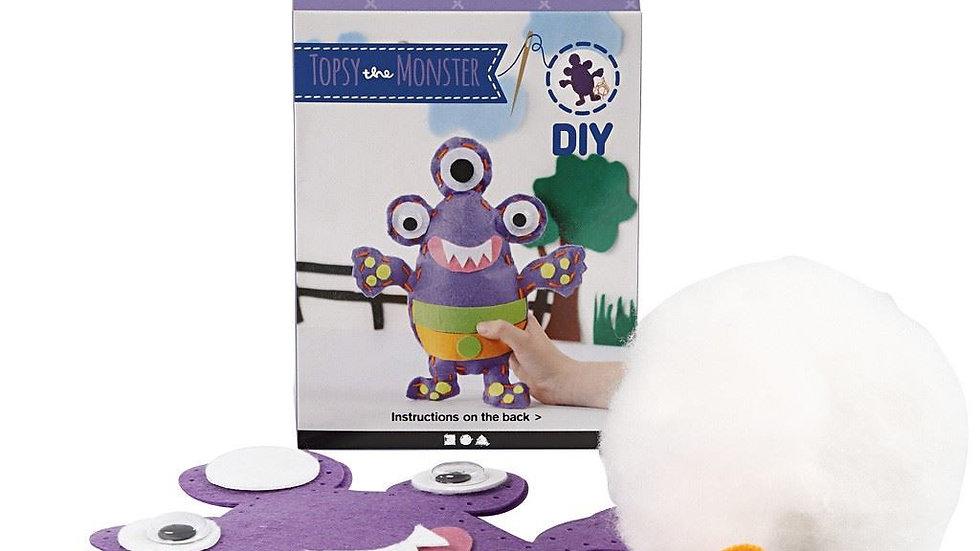 Topsy the monster felt craft kit