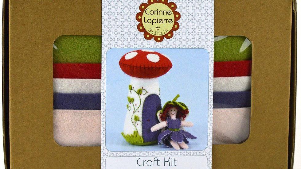 Flower Fairy & toadstool Felt Craft Kit