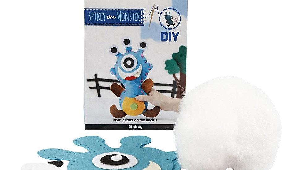 Spikey the monster felt craft kit