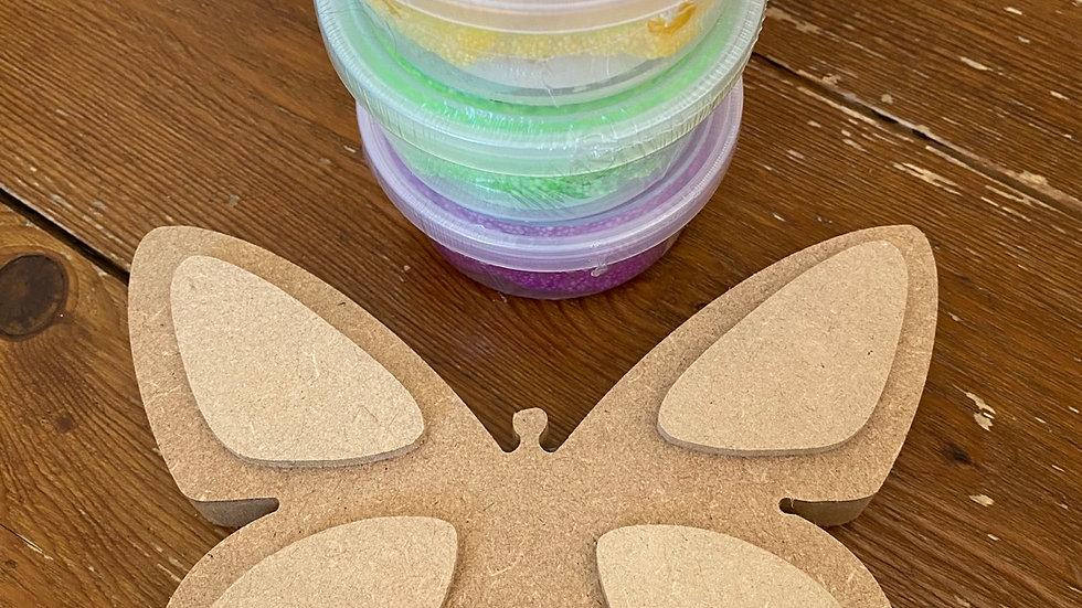 Foam clay butterfly kit