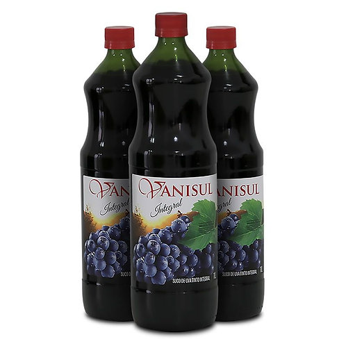Suco de Uva Tinto Integral - 1L ( 3 garrafas)