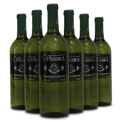 Vinho de Mesa Branco Seco Vanisul - 750ml (6 garrafas)