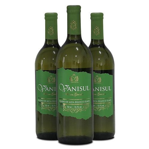 Vinho de Mesa Branco Suave Vanisul - 750ml (3 garrafas)