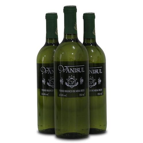Vinho de Mesa Branco Seco Vanisul - 750ml (3 garrafas)