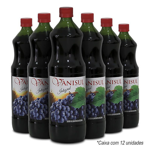 Suco de Uva Tinto Integral - 1L (12 garrafas)