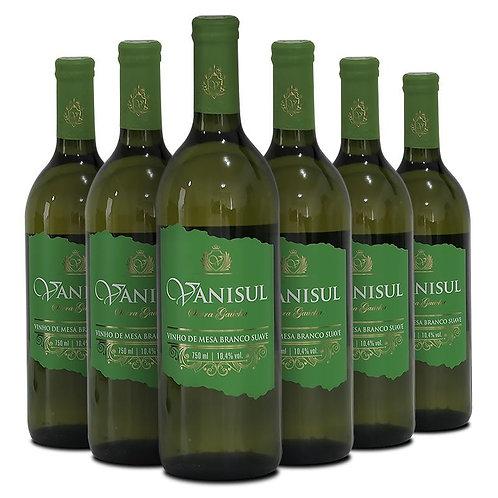 Kit Vinho de Mesa Branco Suave Vanisul - 750ml (12 garrafas)