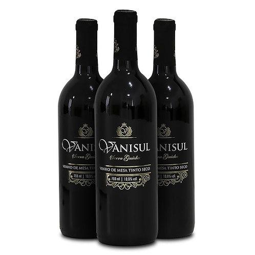 Vinho de Mesa Vanisul - Tinto Seco - 750ml (3 unidades)