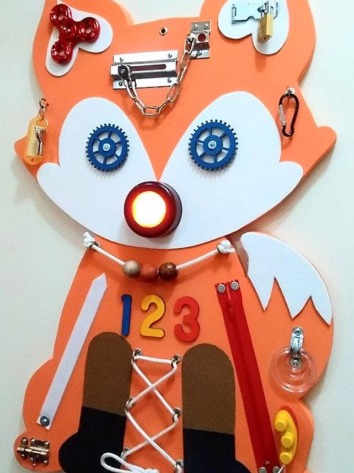 Painel Sensorial Montessori - Raposinha