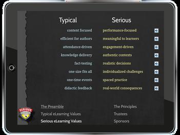 3 Ways to Put the Serious eLearning Manifesto iPad App to Work