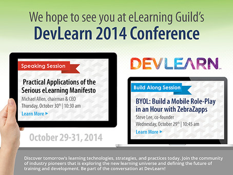 Come Check Out ZebraZapps Mobile at DevLearn 2014!
