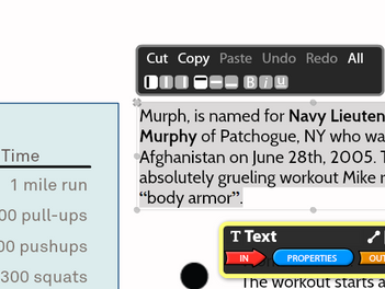 New Edit Bar for Labels and Text Objects