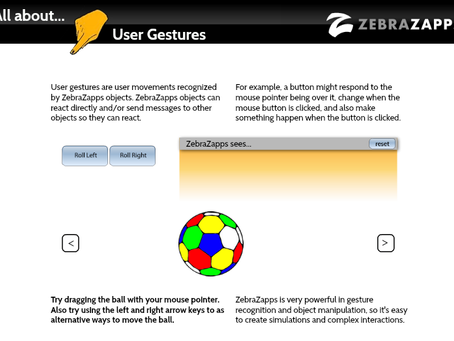 Discover ZebraZapps - All About User Gestures
