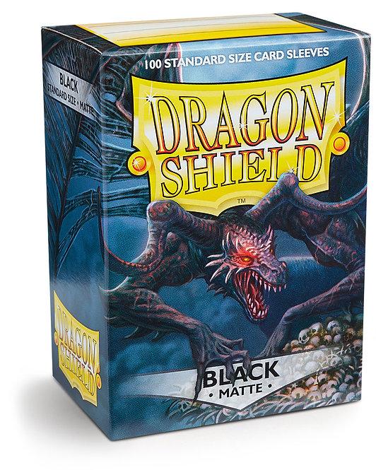 Dragon Shield: Matte Black Sleeves (100)