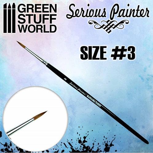 Green Stuff World: Serious Painter Kolinsky Sable Brush Size 3