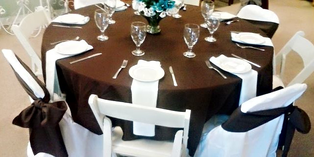 Brown, White & Shades of Teal Tablescape