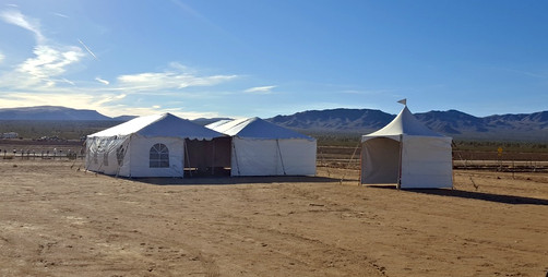 40 x 40 and 10 x 10 Tents for a Monthly Event in Dolan Springs