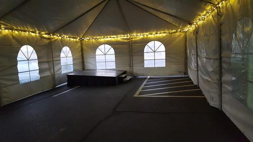 Tent, Lights & Stage Platform @ Diamond Brothers Customer Appreciation Event