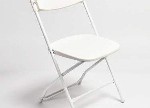 Poly Folding Chair- White