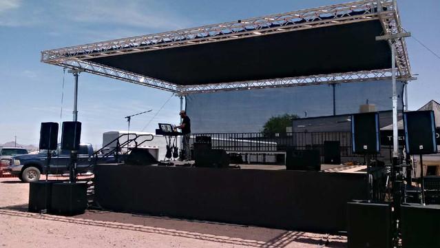Stage Setup for Bike Week Event @ Mother Road Harley Davidson