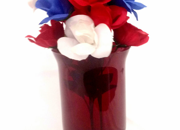 Red Hurricane Vase