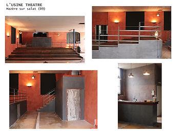 rénovation d'une salle de spectacle dans l'ancienne usine Rizzla+ à Mazère sur salat