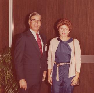Arcadio Arosemena y Carmela de Arosemena en el XI World Orchid Conference Miami - 1989.