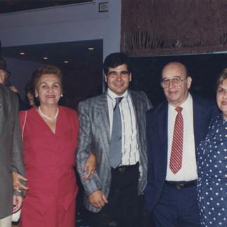 IX Exposición Internacional de Orquideas del Ecuador. Enrique Arosemena, Graciela de Coronel, Arcadio Arosemena R., Antonio Hidalgo y Elia de Hidalgo - 1995.