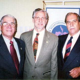 Arcadio Arosemena, Assar Bohman y Julio Vinueza - 1985